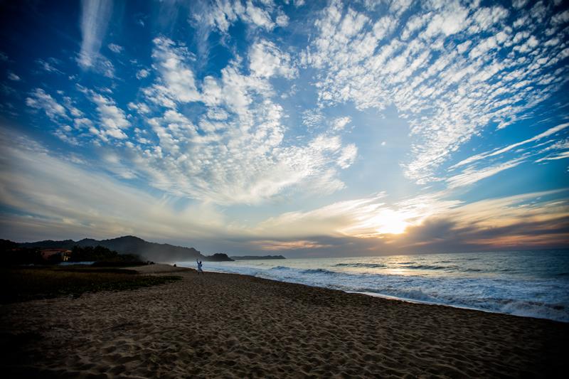 Puesta de sol playa Punta Paraíso San Francisco Riviera Nayarit México