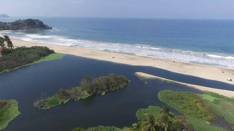 Playa tranquila San Pancho Nayarit