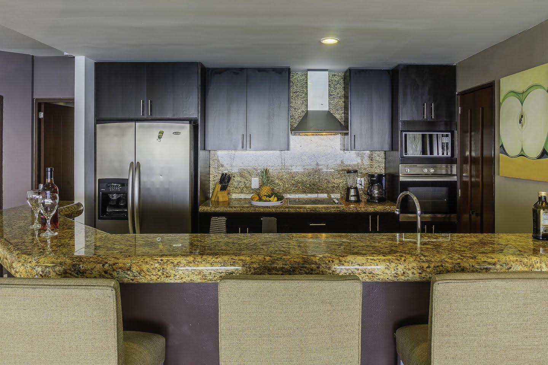 Integral kitchen Beachfront Penthouse Luxury Condo Nuevo Vallarta