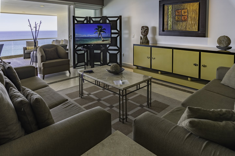 Living room Beachfront Penthouse Luxury Condo Nuevo Vallarta