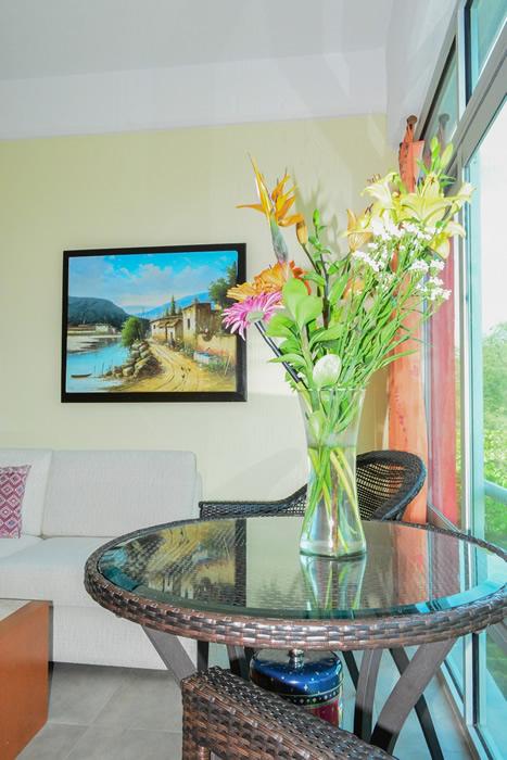 Mesa decorativa Condominio amueblado en venta Living 3.14 Nuevo Vallarta