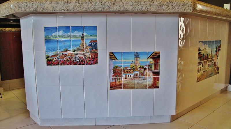 Mosaico cocina Condominio en venta Villa Magna Nuevo Vallarta