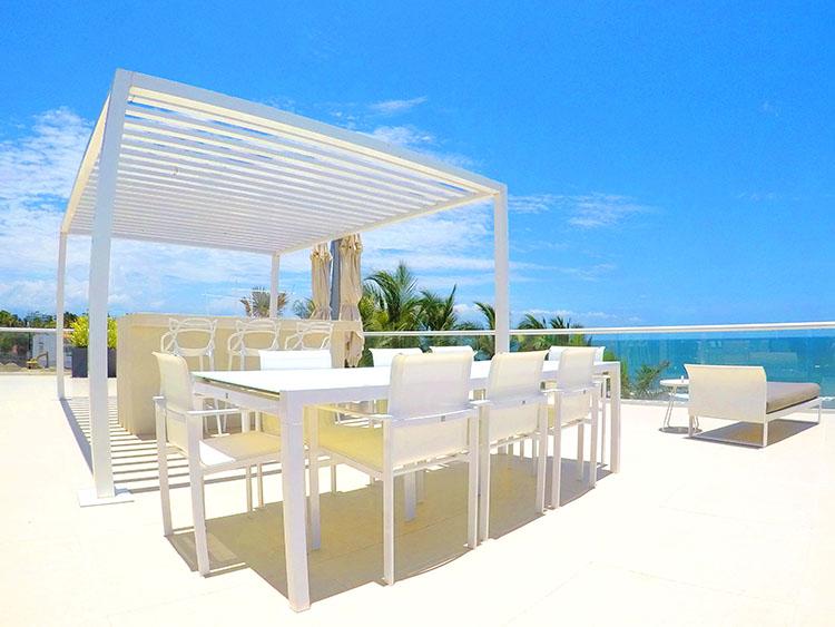 Outdoor Bar, Penthouse Beach-Front Peninsula Nuevo Vallarta Mexico