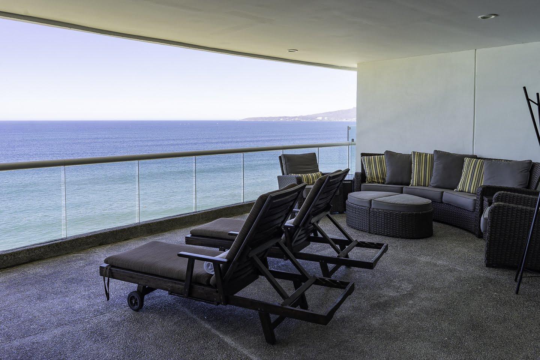 Outdoor seating Beachfront Penthouse Luxury Condo Nuevo Vallarta