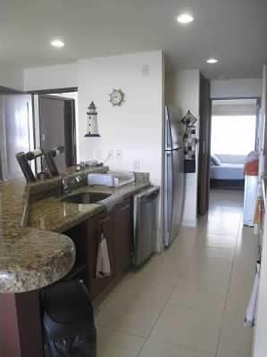 Pasillo cocina y estudio Condominio Villa Magna Nuevo Vallarta