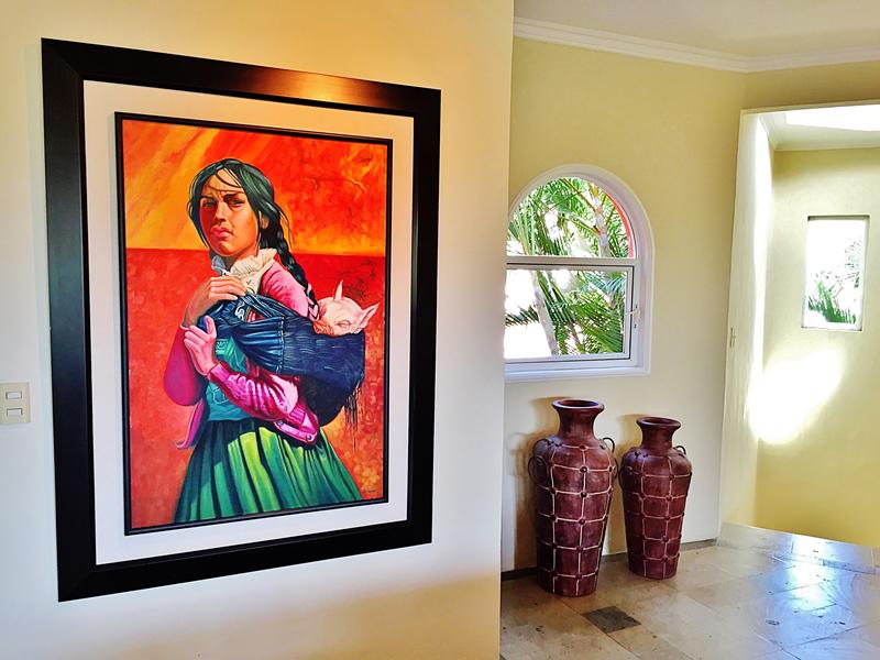 Pintura Villa en bucerías Nayarit Lanigan