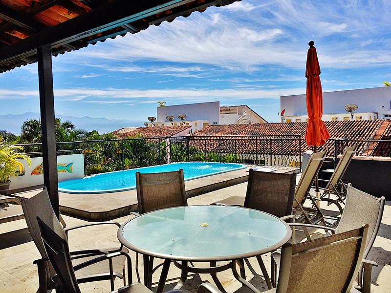 Piscina en terraza Villa en bucerías Nayarit Lanigan