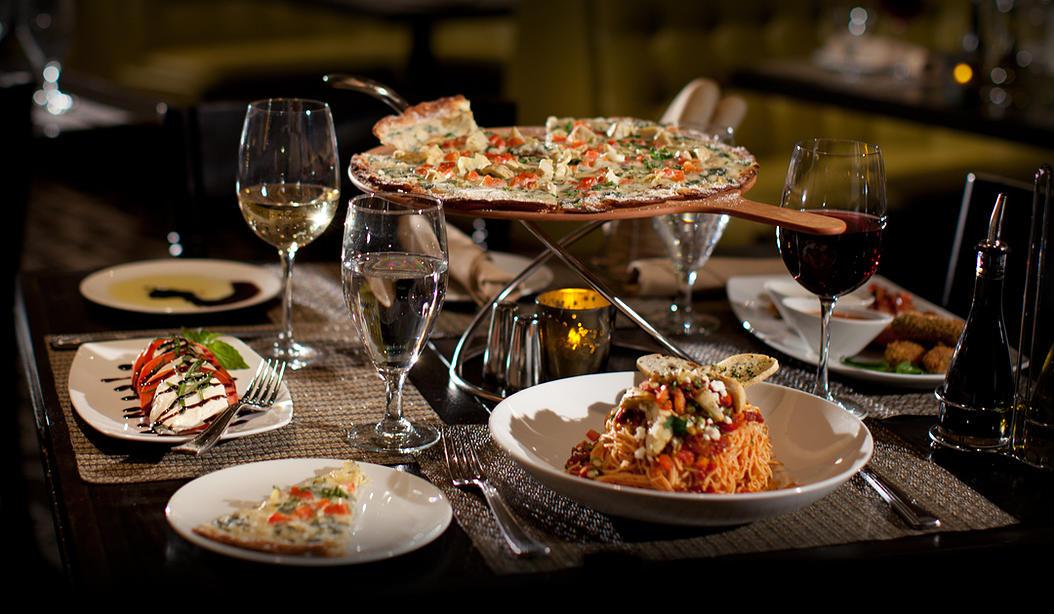 Pizza en restaurante en Nuevo Vallarta