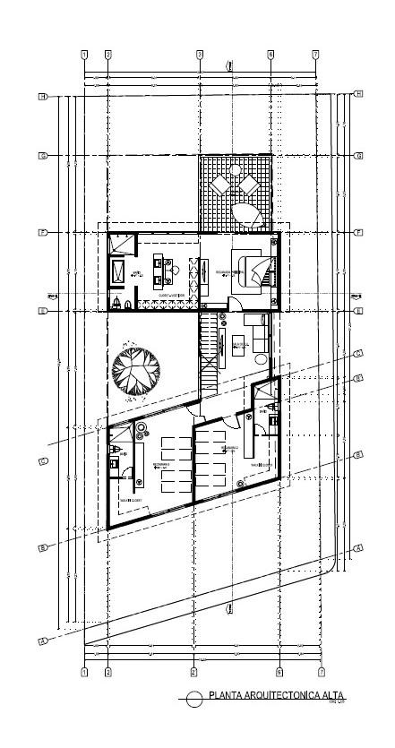 Plano arquitectónico planta alta Vista Lagos Paradise Village El Tigre Nuevo Vallarta