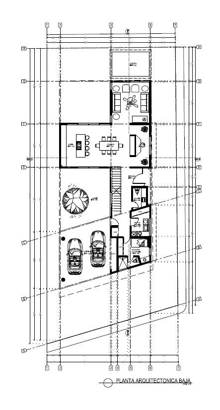 Plano arquitectónico planta baja Vista Lagos Paradise Village El Tigre Nuevo Vallarta
