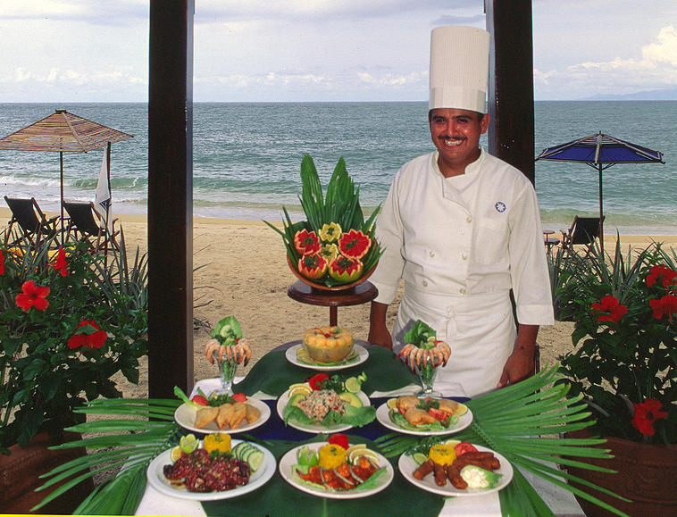Preparacion de platillos por chef en Nuevo Vallarta