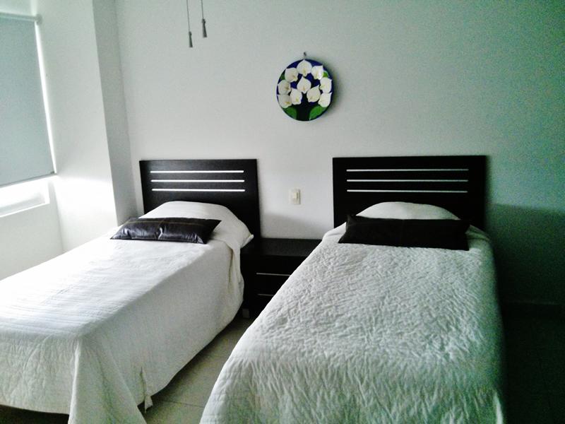 Recámara con dos camas Condominio Villa Magna Nuevo Vallarta