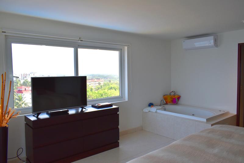Recámara con jacuzzi Condominio con vista al Mar en Venta Villa Magna Nuevo Vallarta
