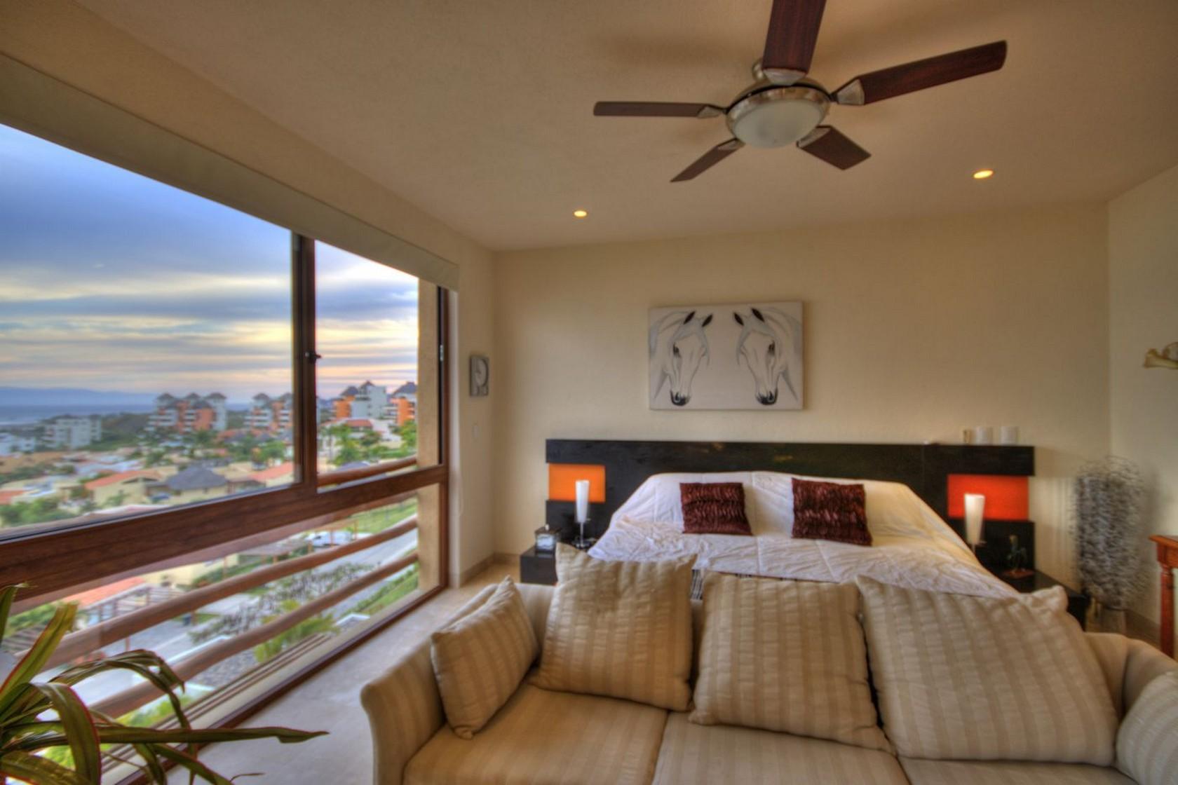Recámara principal Departamento en venta Punta Esmeralda Resort La Cruz de Huanacaxtle