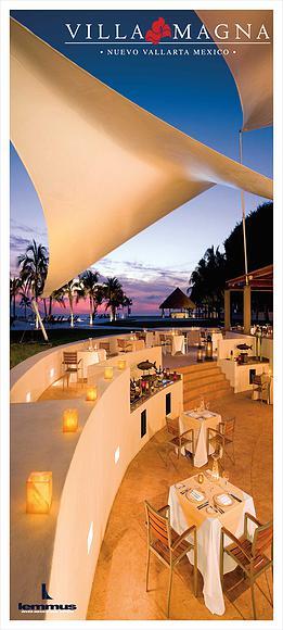 Restaurante al aire libre Condominio Villa Magna en Nuevo Vallarta