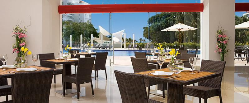 restaurante con vista alberca condominio villa magna nuevo