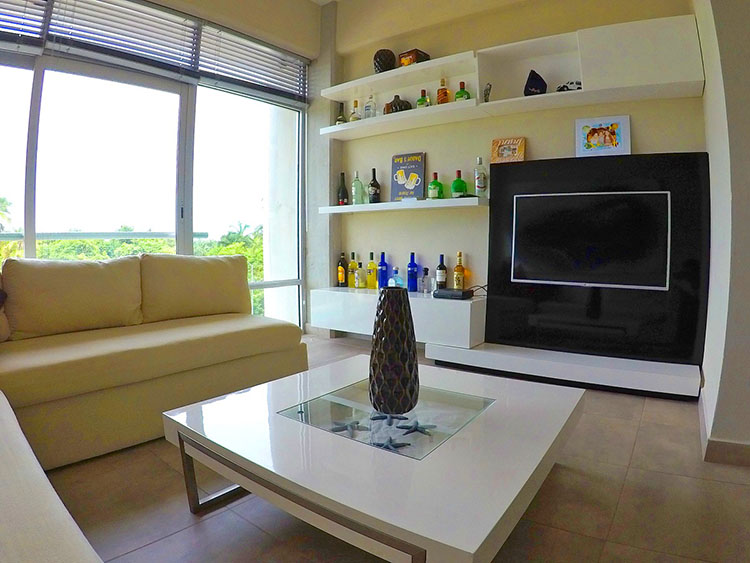 Sala-Mueble Condominio 3.14 en Nuevo Vallarta dos recamaras