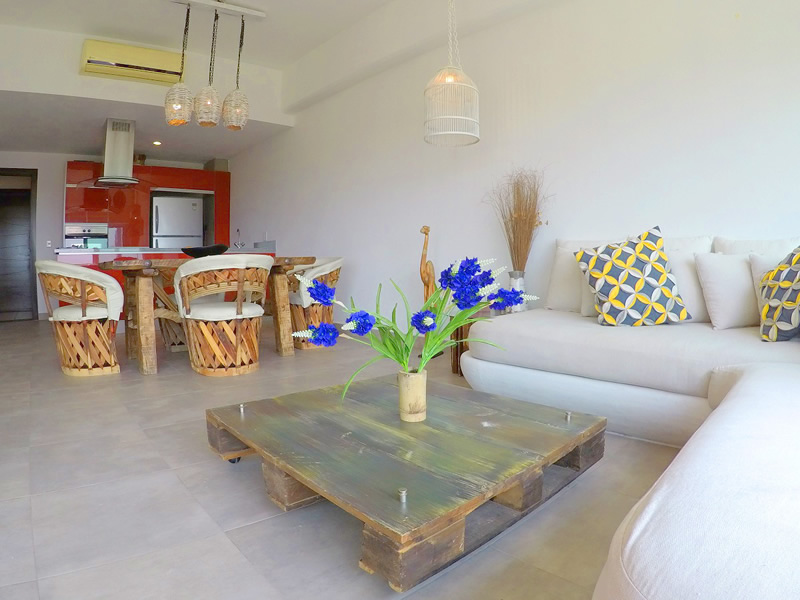 Sala Apartamento en Venta 3.14 Living Nuevo Vallarta Nayarit