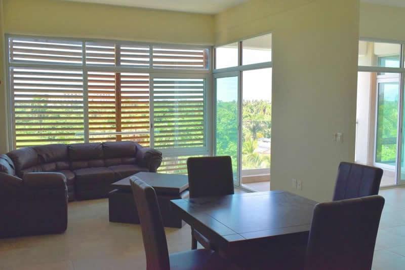 Sala y comedor Departamento en venta Nuevo Vallarta 3.14 Living