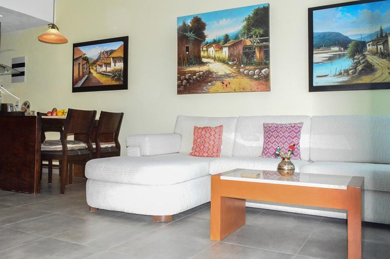 Sala Condominio amueblado en venta Living 3.14 Nuevo Vallarta