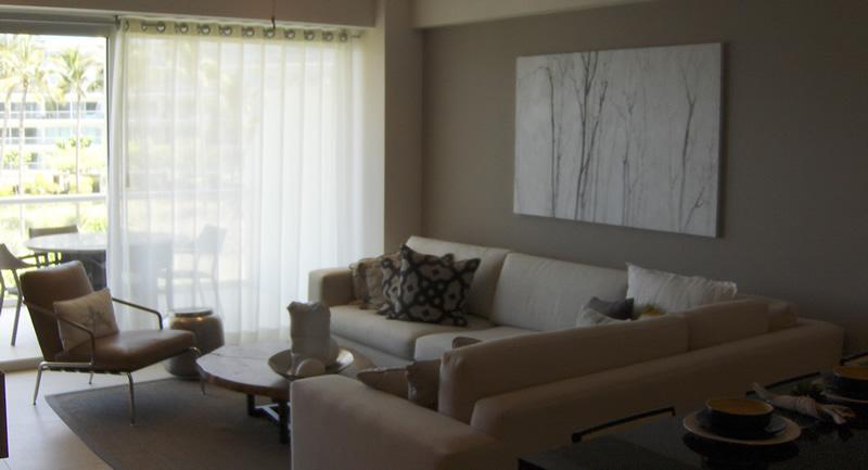Sala Condominio Península en Nuevo Vallarta