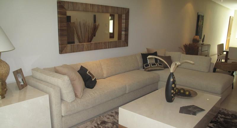 Sala Condominio Península Golf en Nuevo Vallarta