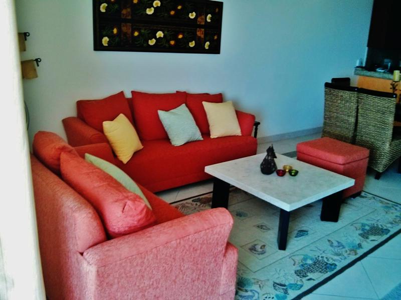 Sala Condominio Villa Magna Nuevo Vallarta con Estudio Penthouse