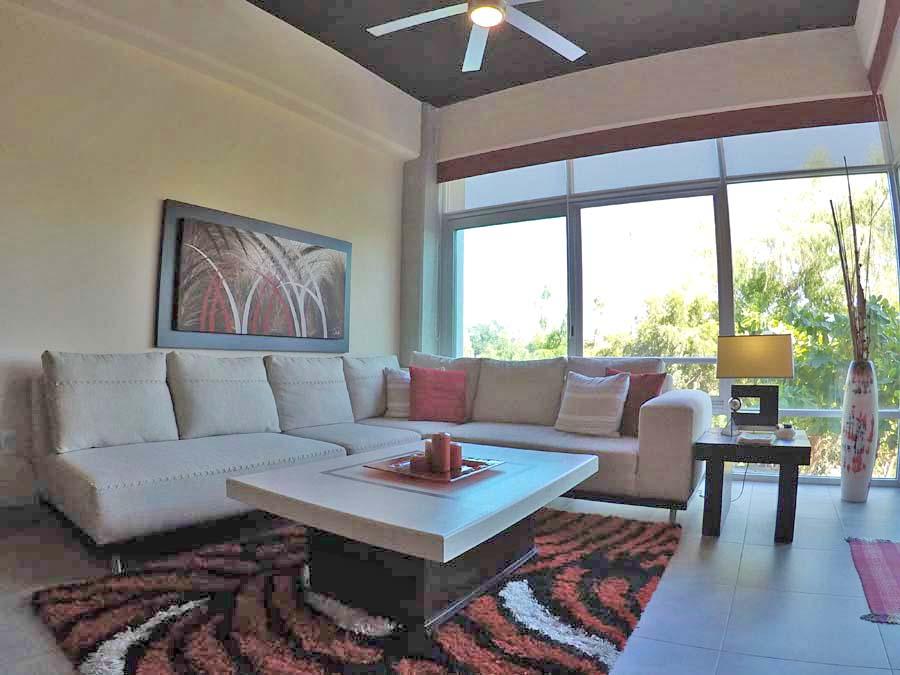 Sala Departamento en venta 3.14 Living Plaza Nuevo Vallarta