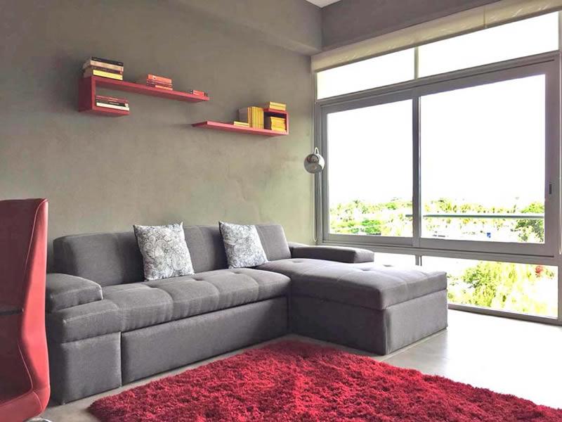 Sala Departamento en Venta Nuevo Vallarta Nayarit 3.14 Living