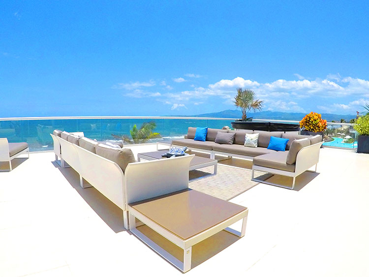 Sala en Terraza-Penthouse frente al mar-Peninsula Nuevo Vallarta Mexico