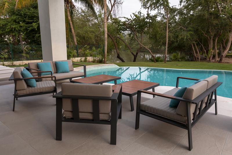 Sala piscina Casa de lujo en venta El Tigre Nuevo Vallarta Nayarit México