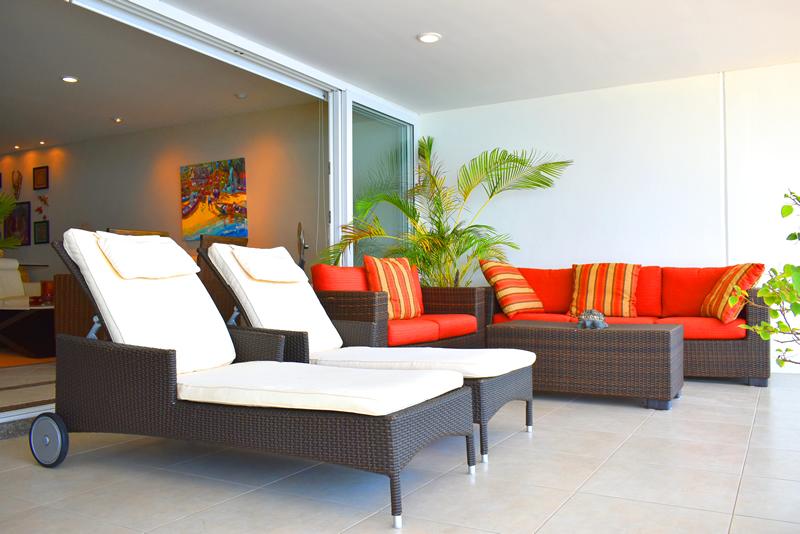 Sala terraza Condominio con vista al Mar en Venta Villa Magna Nuevo Vallarta