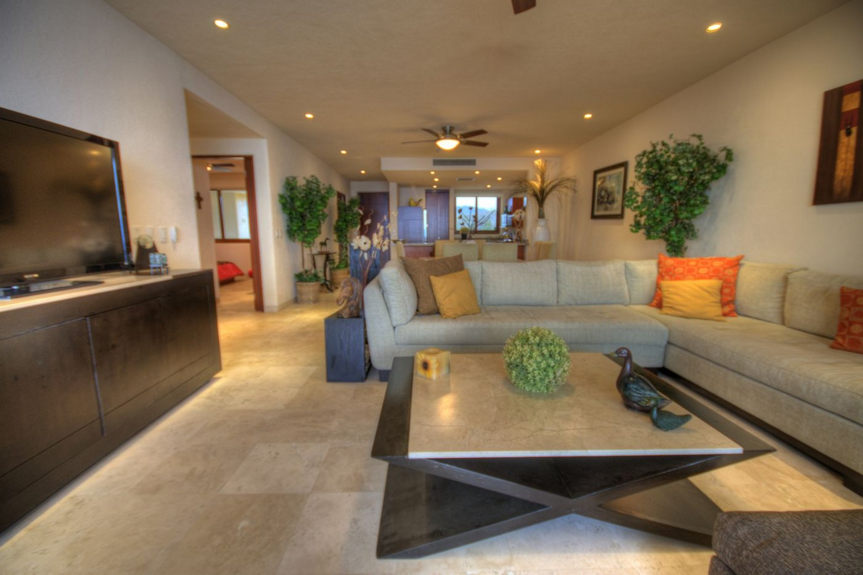 Living Departamento en venta Punta Esmeralda Resort La Cruz de Huanacaxtle