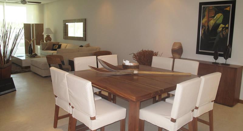 Sala y comedor Condominio Península Golf en Nuevo Vallarta