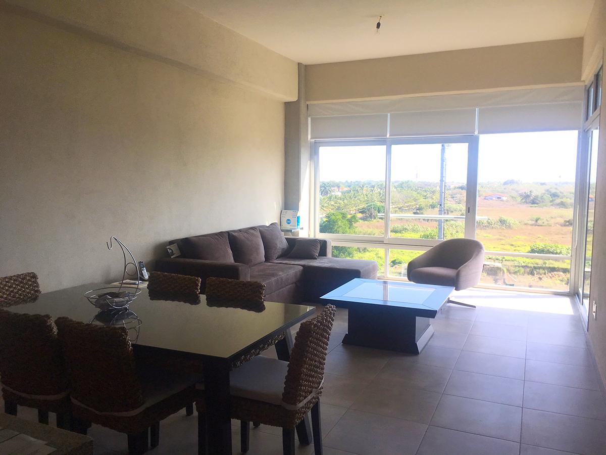 Sala y comedor Penthouse en Venta Nuevo Vallarta en Condominio 3.14 Living