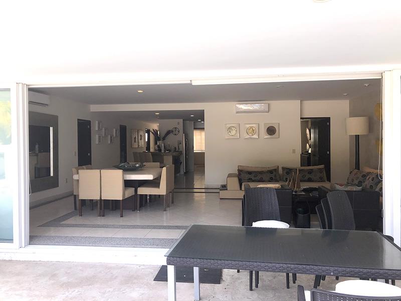 Sala y comedor Residencial Villa Magna Nuevo Vallarta Departamento en Venta
