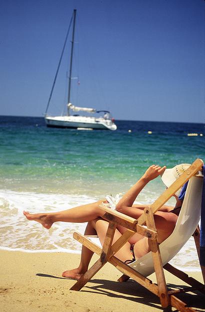 Silla de playa orilla del mar Nuevo Vallarta