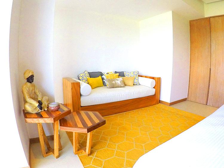 Sofa in bedroom Penthouse Beach-Front Peninsula Nuevo Vallarta Mexico