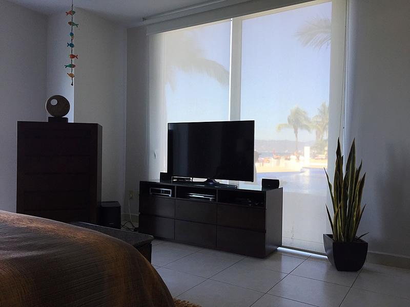 Televisor en recámara Departamento en Venta VillaMagna Nuevo Vallarta Nayarit