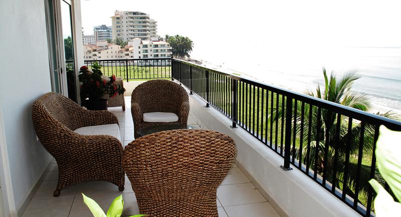Terraza Condominio Playa Vista Residences en Nuevo Vallarta