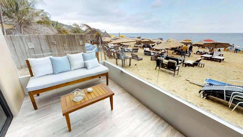 Terraza frente al mar Condominio en venta Punta Paraíso San Pancho Riviera Nayarit