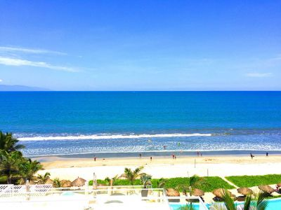 Front View-Ocean Front Corner Penthouse In Peninsula Nuevo Vallarta