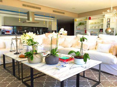 Living Room-Ocean Front Corner Penthouse In Peninsula Nuevo Vallarta