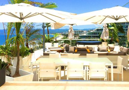 ong Terrace-Ocean Front Corner Penthouse In Peninsula Nuevo Vallarta