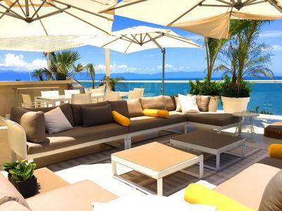 Sala Exterior-Penthouse En Esquina Frente Al Mar En Península Nuevo Vallarta