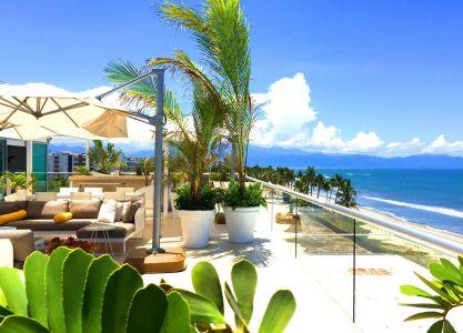 Vista Sur-Penthouse En Esquina Frente Al Mar En Península Nuevo Vallarta