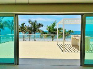Acceso terraza penthouse en venta Condominio Península en Nuevo Vallarta Nayarit