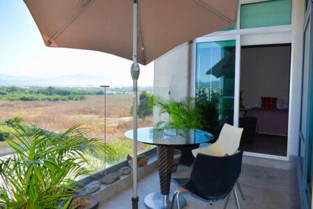 Balcón Penthouse Nuevo Vallarta en Venta 3.14 Living
