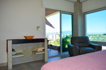 Balcón recámara Penthouse Nuevo Vallarta en Venta 3.14 Living