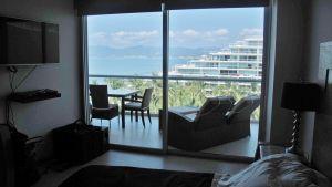 Recámara con vista al mar Condominio Peninsula en Nuevo Vallarta Nayarit